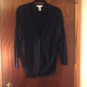 3/4 Sleeved Navy Cardigan